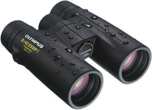 Olympus 8x42 EXWPI - Prismáticos (8 x 42, Revestimiento UV, Zoom óptico 8X) Negro