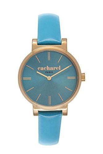 cacharel-cld-027-1jj-montre-femme-quartz-analogique-cadran-bleu-bracelet-cuir-bleu