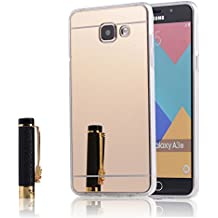 Coque Samsung Galaxy A3 2016 (A310) Miroir Silicone TPU Coloris Or Etui Housse Bumper
