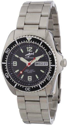 Chris Benz CBM.S.MB.SW - Reloj analógico de cuarzo unisex con correa de acero inoxidable, color plateado