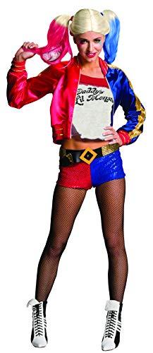 Kostüm Schuhe Harley Quinn - Rubie's Offizielles - Harley Quinn Damen-Kostüm - Suicide Squad, Erwachsene, M (10-14)
