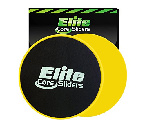 Elite-Sportz-Equipment-Core-Exercise-Sliders-2-Dual-Sided-Gliding-Discs-for-Carpet-Hardwood-Floors-Yellow