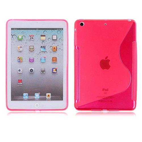 Schutzhülle für Apple iPad Mini 4, S-Linien-Design, weiches TPU-Silikon, Pink