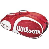 Wilson Team 6Pk - Raquetero, color rojo/blanco, talla NS