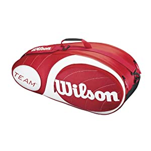 Wilson Sporttasche Team Collection 6 Pack Tasche, Red/White, 76 x 25.5 x 34.3 cm