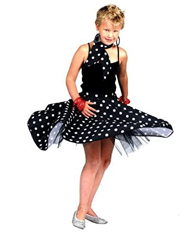 Rock And Roll Danse Costumes Pour Enfants - Déguisement Enfant Fille - Jupe Rock n