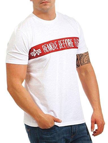 Alpha Industries Herren Oberteile/T-Shirt rbf White ...