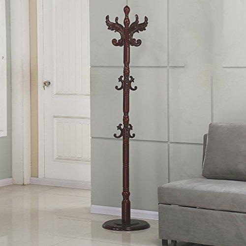 SKC Lighting-Porte-manteau Sol solide bois porte-manteau de style européen Assemblée vêtements étagère salon multi-usage cintre (Couleur : Redwood color)