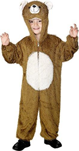 x Bär Kostüm, Jumpsuit mit Kapuze, Größe: M, 30014 (Bär Kinder Kostüm)