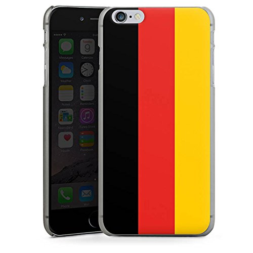 Apple iPhone X Silikon Hülle Case Schutzhülle Deutschland Flagge Fußball Hard Case anthrazit-klar