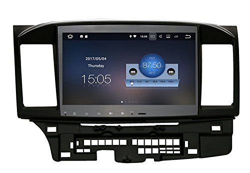 RoverOne Android 7.1 System Auto GPS Navigation für Mitsubishi Lancer 10 EVO GaLant Fortis Ispira X mit Autoradio Stereo Radio Bluetooth HDMI Spiegel Link Quad Core Multimedia System (Mitsubishi Galant Fortis)
