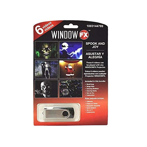 Window FX Halloween 6 Videos Spook & Joy USB Haunted House Rep Decor New 2018