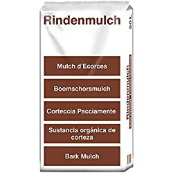 (13 Cent/Liter) 100 Liter terrasan Rindenmulch 0 - 40mm Qualität aus Schwaben Garten-Mulch