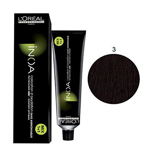 L\'Oréal Professionnel Inoa Haarfarbe 3,0 dunkelbraun intensiv, 60 ml