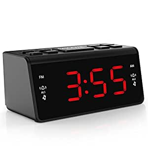 fm radio alarm clock digital am fm radio dual. Black Bedroom Furniture Sets. Home Design Ideas