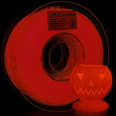 AMOLEN PLA Filaments Glow in the Dark, 1.75mm 200G(0.44lb),+/- 0.03 mm 3D Drucker Materialien, enthält Proben Filament.