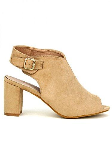 Cendriyon, Sandale Beige REBECCA Chaussures Femme Beige