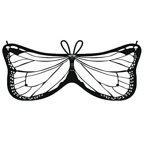 YWLINK Kind Bunt Chiffon Karneval Schmetterling Flügel Creative -
