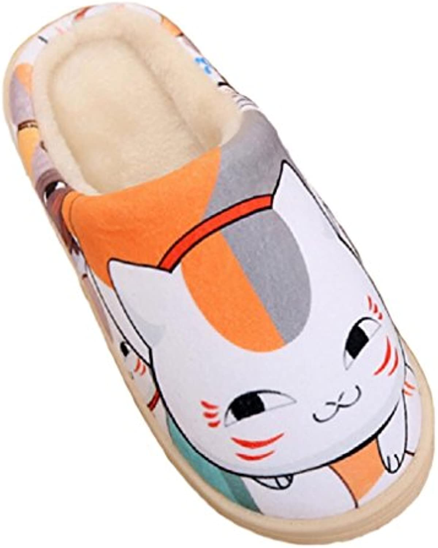 Bromeo Natsume Yuujinchou Anime Super Suave Zapatillas de estar por casa Felpa Zapatos