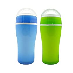 Tuelip Combo of Blue and Green Polypropylene Stylish Hot and Cold Tumbler Water Bottle - 350 ml