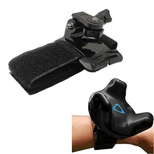 NEWZEROL 2 PCS per HTC Vive Tracker 2017/18 Cinturino da Polso con Cinturino Regolabile per VR Tracker,Staffa Fissa e Strumenti Ausiliari-più Divertimento nei Tuoi Giochi di Realtà Virtuale