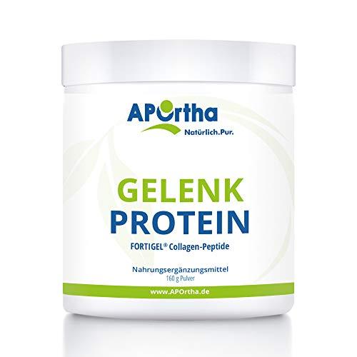 APOrtha® FORTIGEL® Gelenk Protein | innovatives Kollagenpeptid | 160 g natural ohne Zusätze | Deutsches Markenprodukt