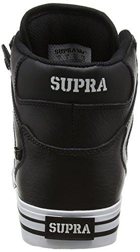 Supra Vaider, Sneakers Hautes mixte adulte Noir (Black White)
