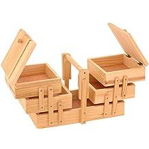 SIDCO ® Nähkasten Nähkästchen Nähkorb Nähbox Nähkiste Holz Nähzeug Aufbewahrung