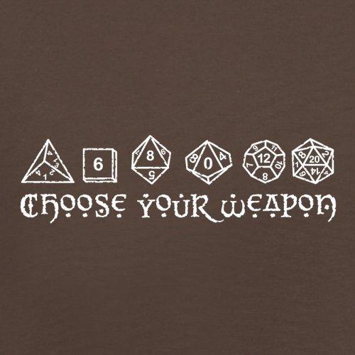 Choose your Weapon (D&D Dice) - Herren T-Shirt - 13 Farben Schokobraun