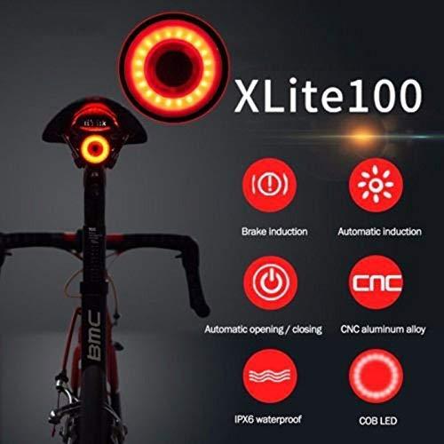 Luce Posteriore per Bici, Luce Posteriore per Bici Ultraluminosa Luce USB Ricaricabile per Accensione/Spegnimento del Freno Sensore LED ad Alta Intensità Rosso Bicicletta Luci Posteriori