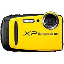 "Fujifilm FinePix XP120  - Cámara acuatíca de 16.4 MP (pantalla de 3"", estabilizador óptico, video Full HD, Wifi) amarilla"