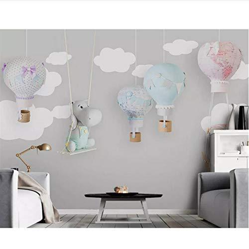 ische handbemalte klassische dreidimensionale Tapete Tier Ballon Kinderzimmer Hintergrund Tapete 400x280cm ()