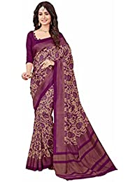 Novus Knitting Purple Pure Mysore Silk Designer Bollywood Saree With Blouse For Uniform (4529)