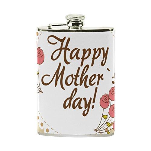 jeansame Personalisierte Hip Drink Fläschchen 8Oz Edelstahl für Männer Frauen Mütter Tag Best Mom Love Vintage Country Garden Floral Blumen