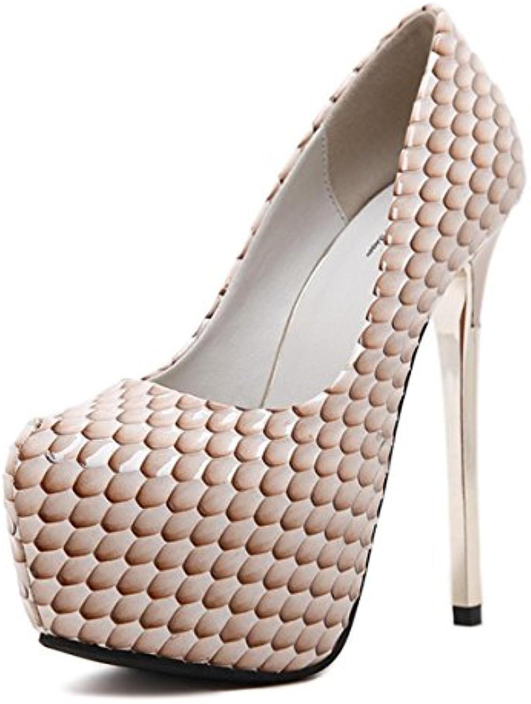 MNII Womens Stiletto Diamante Partido Evening Court zapatos de tacón alto Plataformas de zapatos- Zapatos de moda -