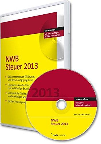 NWB Steuer 2013: Einkommensteuer-Erklärungs- und Berechnungsprogramm. Programmassistent für sichere und vollständige Erstellung. Unterstützte ... Vordrucke. Für den Veranlagungszeitraum 2013.