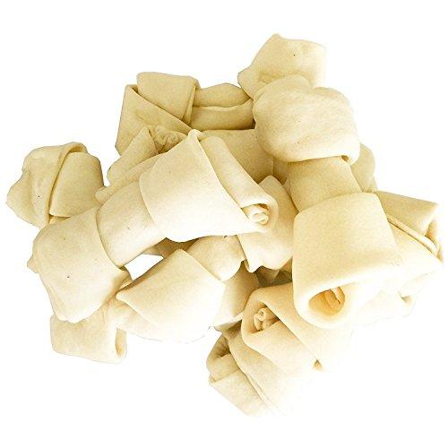 PET MAGASIN Rolle, Rohleder, für Hunde, 15,2-17,8 cm, natürliches Rind, Rohleder, 10 Stück Beutel