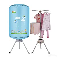 ✏GYJ Round Small Dryer, 900W Power-saving Silent Double-layer Dry Hanger Baby Clothes Dryer
