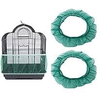 POPETPOP 2 Piezas Cubierta de Jaula de Pájaros Colector de Semillas Jaula de Pájaros Cubierta de Red de Malla de Nylon Falda Canasta de Guardia Accesorios de Jaula de Pájaros Ventilados Suaves