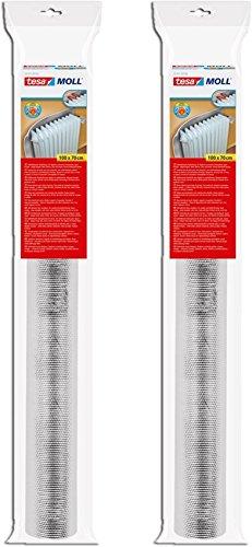 Tesa Spar-Set 2x tesamoll Reflektorfolie für Heizkörper, 1,0m x 0,7m