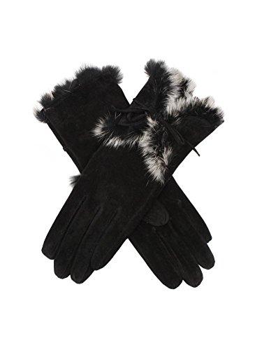 Dents Orla Pigsuede Ladies Glove Black