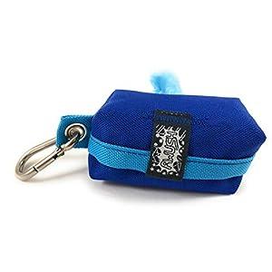 Kotbeutelspender, Kotbeuteltasche inklusive Kotbeutel, Blau-Hellblau
