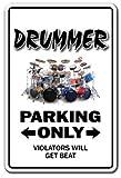 Drummer Addict Warnschild Schlagzeug Set Musiksticks Becken Indoor Outdoor 30,5 cm hoch Trommler 8
