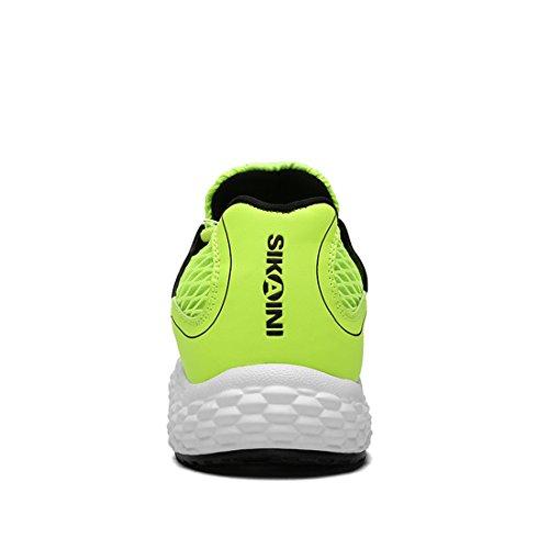Sikaini Unisex Running Sneakers Stringate Sportive Casual In Mesh Traspirante Leggera Outdoor Per Calzature Sportive Verdi