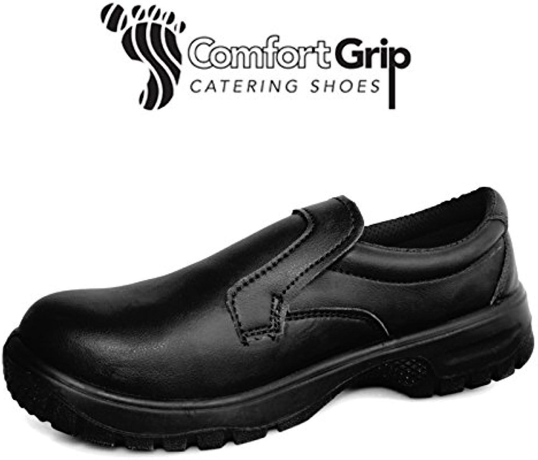 Denny' s dk40 C-11 comfort grip slip-on slip-on slip-on scarpa con puntale, taglia 11, nero | Reputazione a lungo termine  adb84d
