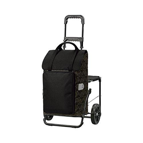 Andersen Shopper Komfort mit Sitz und 48 Liter Tasche Mimi schwarz mit Kühlfach