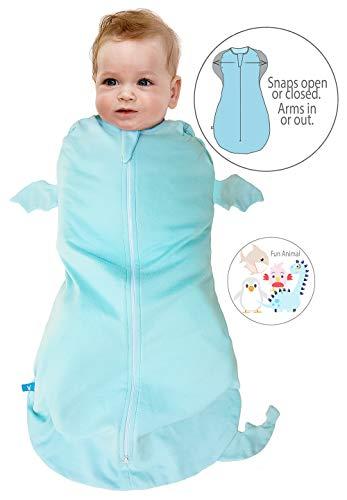 Wallaboo Baby Schlafsack, Der idealer erster Pücksack für Ihre Kleinen 100% Baumwolle, Super für Babys die oft wach werden, Passend auch für alle Babyschale, Maße M: 3-6 Monaten, 6-9 kg, Farbe: Blau
