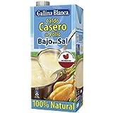 Gallina Blanca Caldo Casero de Pollo Bajo en Sal, 100% natural - 1 l