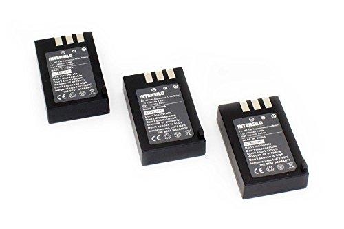 INTENSILO 3 x Li-Ion Akku 1100mAh (7.2V) für Videokamera Camcorder Fuji/Fujifilm FinePix S100, S100FS, S200, S200EXR wie NP-140. Finepix Camcorder