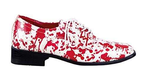 Boland 47144 - Schuhe Horror, Größe 47, rot / weiß